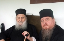 Фото на память о встрече со старцем Иосифом Ватопедским накануне Вознесения Господня 2009 года