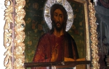 Ватопедская иконя Симона Ушакова в притворе Благовещенского собора Ватопеда - дар Петра Великого 2