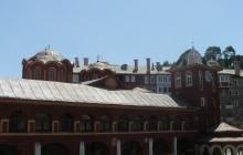 Ватопедский Благовещенский собор и башня
