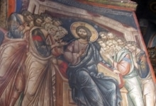 Ватопедский кириакон - древние фрески