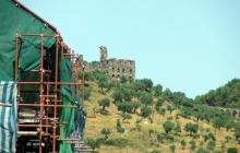 Вид на масличную гору и руины Афониады - Ватопедской академии