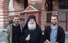 Старец Ефрем с паломниками в октябре 2012
